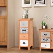 vidaXL tömör fa fiókos szekrény 35 x 35 x 90 cm