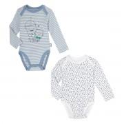 Petit Béguin Lot de 2 bodies bébé garçon manches longues Milky - Taille - 9 mois