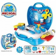 JGG Plastic Medical Suitcase with 18 Pcs Toy for Kids