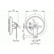 Bosch Claxon BOSCH 0 986 320 316