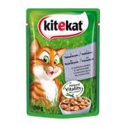 Котешка храна Kitekat Pouch телешко, 6 броя х 100 г