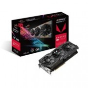 Видео карта AMD Radeon RX Vega64, 8GB, Asus ROG STRIX RX Vega64 OC Edition, PCI-E 3.0, HBM2, 2048 bit, 2x Display Port, 2x HDMI, 1x DVI, AURA RGB подсветка