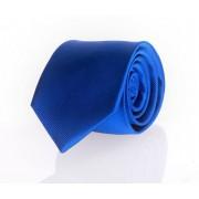Krawatte Seide Kobaltblau Uni F65 - Blau