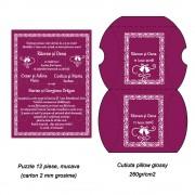 Invitatie Puzzle In Pillow Cu Clopotei