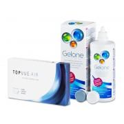 TopVue Air (6 Lentillas) + Gelone 360 ml - ¡Oferta especial!