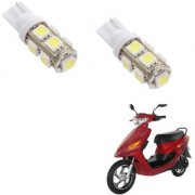 Auto Addict Scooty T10 9 SMD Headlight LED Bulb for Headlights Parking Light Number Plate Light Indicator Light For Indus Electron ER 7