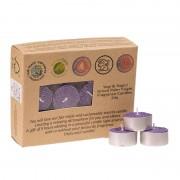 Spiru Theelichtjes 24 Stearine Geurkaarsjes Lavendel