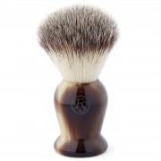 Frank Shaving Marmorierter Brauner Synthetik Rasierpinsel