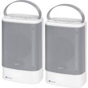 AEG Bluetooth® reproduktor AEG BSS 4833 AUX, hlasitý odposlech, odolná vůči stříkající vodě, USB, bílá
