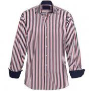 Skjorta Sanders blå/röd/vit comfort fit