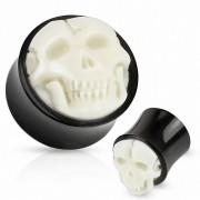 Piercing Street Piercing plug crâne corne de buffle