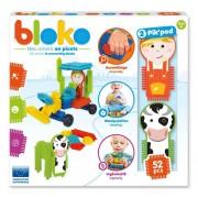 Set constructie Piko - Cutie cu 50 piese si 2 figurine Pik Pod Ferma