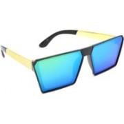 Hrinkar Rectangular Sunglasses(Blue)