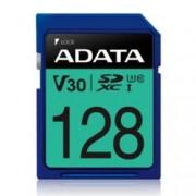 128GB SDXC A-Data Premier Pro, Class 10 UHS-I U3 (V30S), скорост на четене 100 MB/s, скорост на запис до 80 MB/s