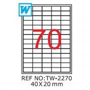 Etichete A4 , 40 x 20mm , TW 2270