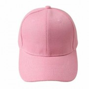 Cool Unisex Cotton Embroidery Caps Hats Sports Tennis Baseball Cap(Pink-cd-Plain)