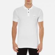 BOSS Orange Men's Pascha Slim Block Branded Polo Shirt - White - M - White