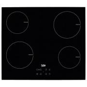Plita incorporabila Beko HII64401AT, 4 zone inductie, touch control, booster, timer, display digital, 60 cm, neagra