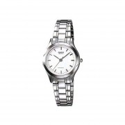 Reloj Analógico Mujer Casio LTP-1275D-7A - Plateado con Blanco