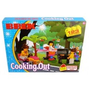 New Brix - Cooking Out - 123 Block Pieces Create Toys BBQ Table Lawn Mower Tree