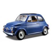 1965 Fiat 500 F Yellow 1:24 Diecast Model Car