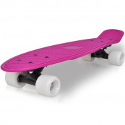 vidaXL Retro Skateboard with Lilac Top White Wheels 6.1""