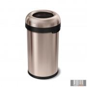 SimpleHuman CW1479 60 literes nyitott rozsdamentes szemetes - rózsaarany