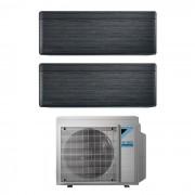 Daikin Condizionatore Daikin Stylish Blackwood Dual Split Inverter 5+9 5000+9000 Btu Wifi A+++ R32 2mxm40m