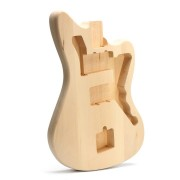 DIY Unfinished Basswood Electric Guitar Body Kit Set For 6 String Guitar Musical Instrument