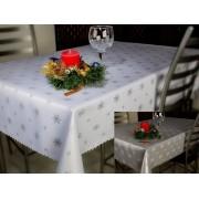 Asztalterítő, terítő barna színben 130x160 cm virágos (107)