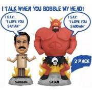 Talking Saddam and Satan Wacky Wobbler Set