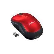 Mouse Logitech M185 Sem Fio Vermelho 1000DPI