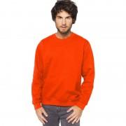 Gildan Oranje sweater/trui katoenmix voor heren
