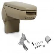 [pro.tec]® Lakťová opierka pre Golf IV / Bora / New Beetle - lakťová opierka - s odkladacím priestorom - koženka - béžová