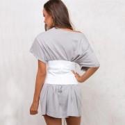 EY Vendaje De Encaje Corsé De Encaje De Gamuza Para Mujer-Blanco