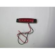 Lampa laterala 6 LED-uri, 12V, lumina rosie