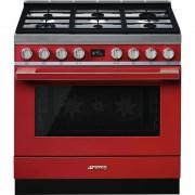 SMEG CPF9GMR Cucina Portofino Piano cottura a gas 6 Fuochi Classe energetica A+ 90x60 cm Rosso