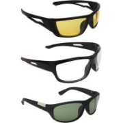 Zyaden Round Sunglasses(Yellow, Clear, Green)