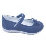 Pantofi fete bleumarin din piele naturală