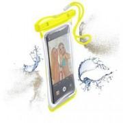Cellularline VOYAGER pouzdro s okénkem univerzální žlutá