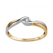 Biżuteria Verona Złoty pierścionek z diamentem