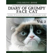Diary of Grumpy Face Cat-Funny Animal Coloring Book for Cat Lovers: Creativity and Mindfulness Sketch Greyscale Coloring Book for Adults and Grown ups, Paperback/Banana Leaves
