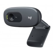Logitech C270 HD-Webcam, 720p, 30 fps, 3MP, FoV 60°, Fester Fokus