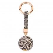 ER Balón Redondo Chapado En Diamante Estilo Fashion Nuevo Coche Shinning Bag Llavero -Cantidad De 7 Colores