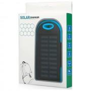 Maxy Caricabatterie Solare F1 Power Bank Carica Batteria Usb 6000mah Universale Blu Per Modelli A Marchio Nodis
