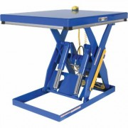 Vestil Hydraulic Lift Table - 4,000-Lb. Capacity, 48 Inch L x 40 Inch W, Model EHLT-4048-4-43, Blue