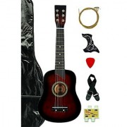 Coffee Acoustic Toy Guitar For Kids With Carrying Bag And Accessories & Directlycheap(Tm) Translucent Blue Medium Guitar