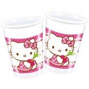 Hello Kitty 8x Hello Kitty themafeest bekertjes 200 ml