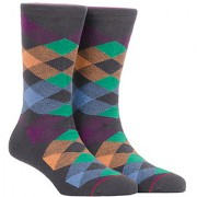Soxytoes Return Of The Scotsman Grey Cotton Calf Length Pack of 1 Pair Argyle for Men Formal Socks (STS0018C)