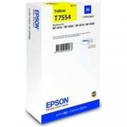 ORIGINAL Epson Cartuccia d'inchiostro giallo C13T755440 T7554 ~4000 Seiten 39ml XL